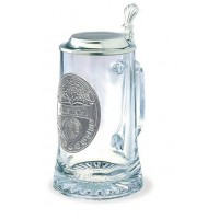 """Кружка для пива 0,5 л., h 18 см.""""Austria"""" стекло/олово"""
