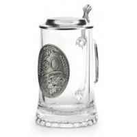 "Кружка для пива 0,5л., h 18см.""Jubilaum 50"" стекло/олово"