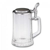 Кружка для пива 0,5л. h 18см. стекло/олово