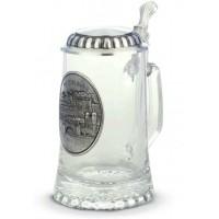 "Кружка для пива 0,5л., h 18см.""Heidelberg"" стекло/олово"