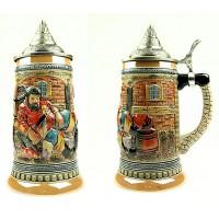 Пивная кружка коллекционная с крышкой 19см, 950мл